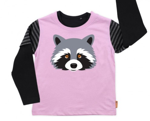 PSST t-shirt Forest Animal: raccoon